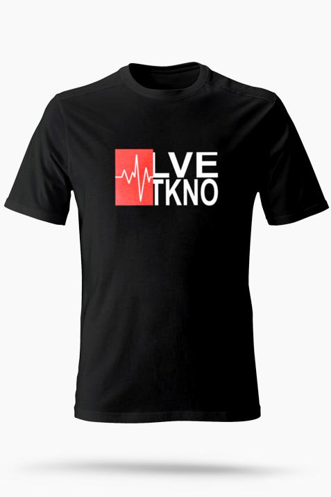 T-Shirt- LVE TKNO groß schwarz