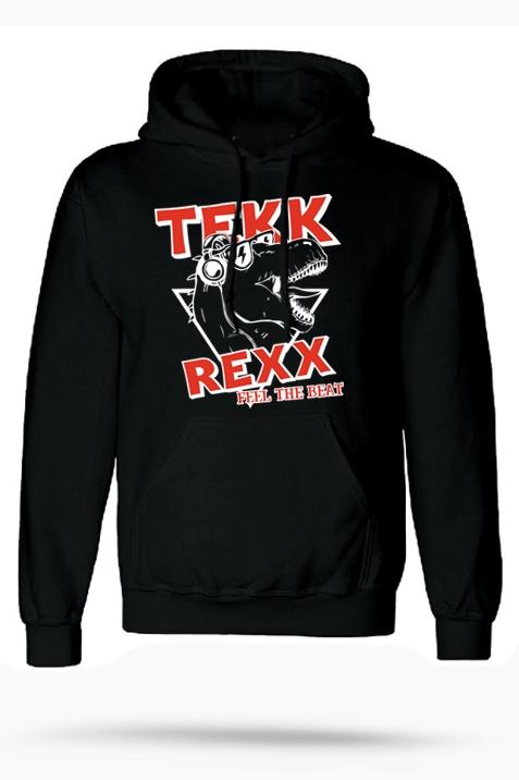 Hoodie- Tekk Rexx schwarz