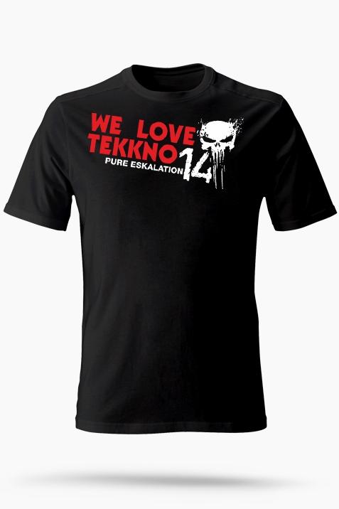 T-Shirt- 14Events-We Love Tekkno schwarz