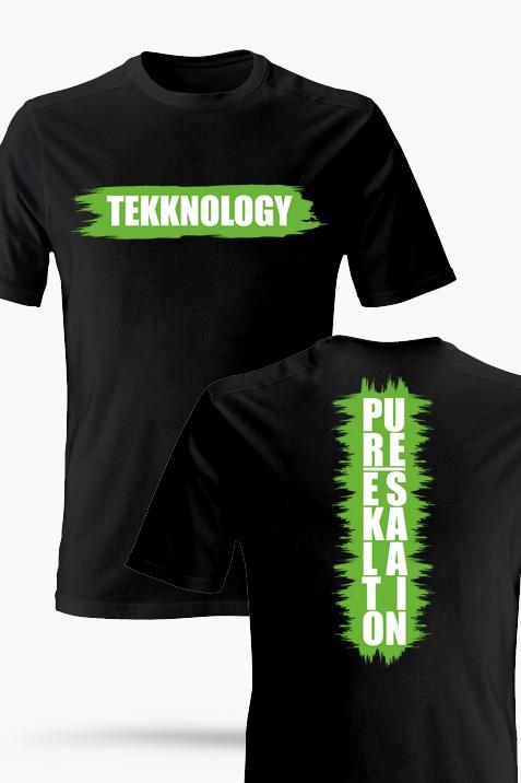 T-Shirt- Tekknology schwarz